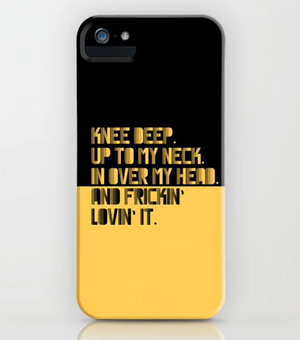 IPHONE CASE UP TO MY NECK. YELLOW