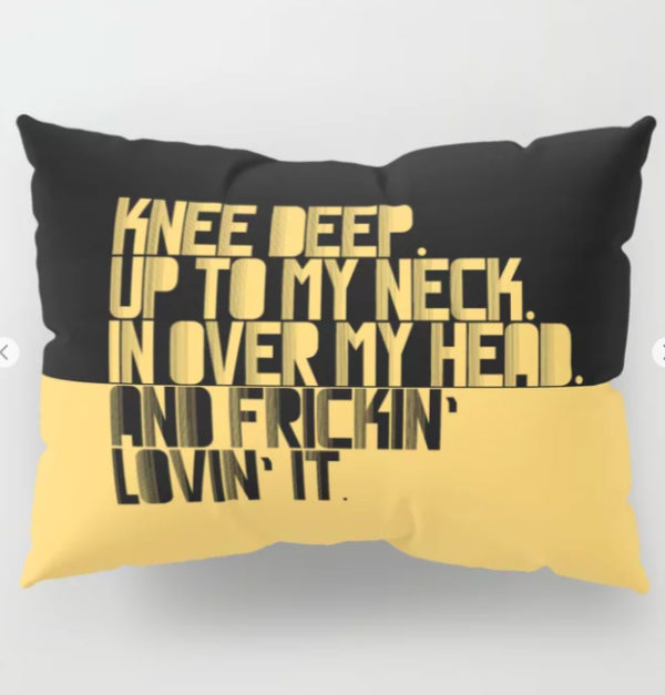 PILLOW SHAM UP TO MY NECK. YELLOW