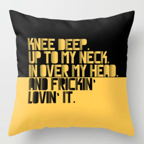 PILLOW UP TO MY NECK. YELLOW