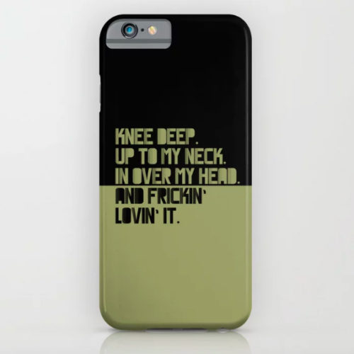 IPHONE CASE UP TO MY NECK. GREEN